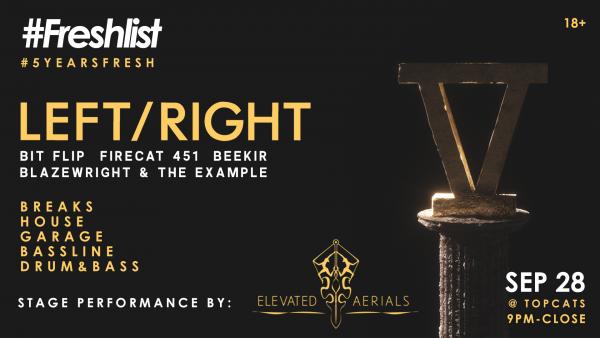 #5YearsFresh - wsg LEFT/RIGHT - GET TICKETS